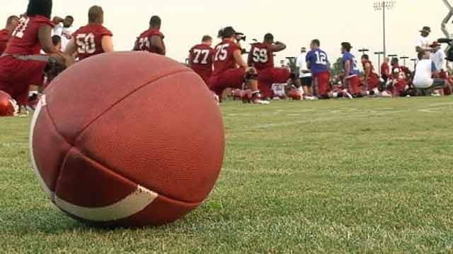 First OU Football Practice