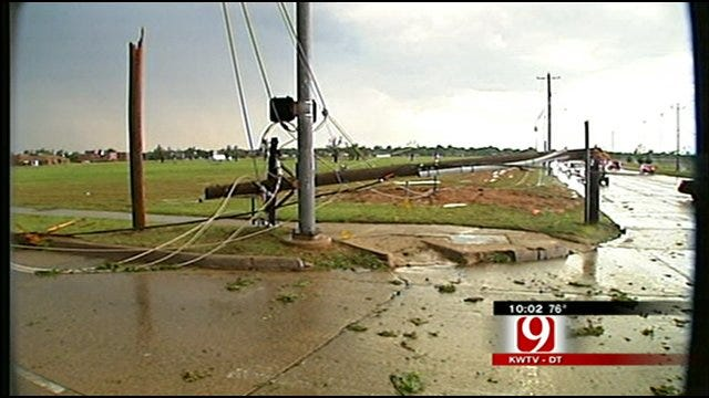 Power Lines Down In Norman