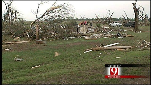 Tornado Takes Homes Down To The Foundation In El Reno