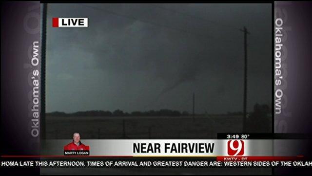 Severe Weather Moves Through Fairview, Calumet