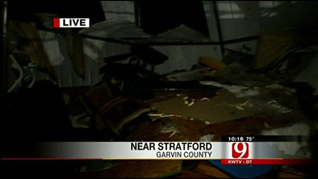 Storm Damage Reported Near Stratford In Garvin County