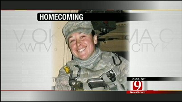Oklahoman Airman Blogger Welcomed Home By Friends, Family