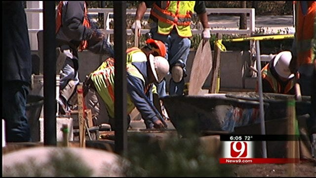 Crews Rushing To Finish Construction In Time For Upcoming Downtown Events