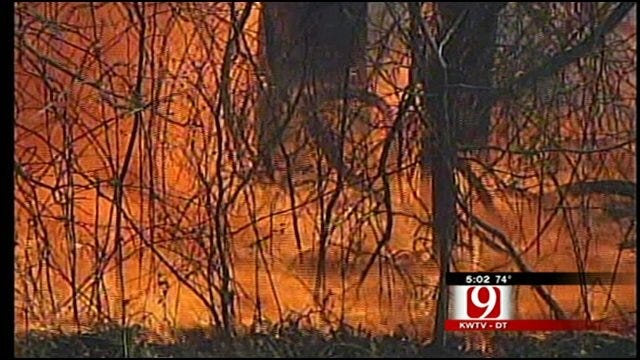 Arson Blamed For 2 Wildfires In Grady County