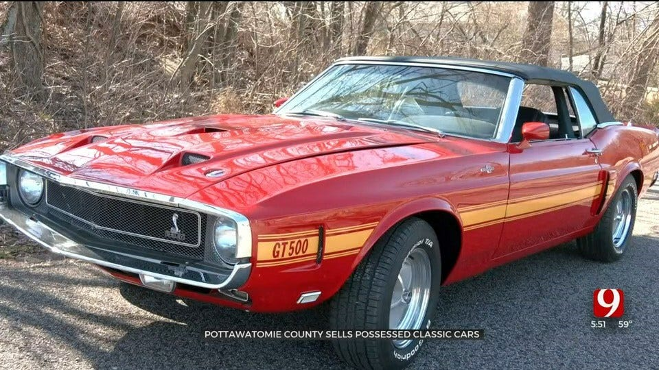Pottawatomie County Auctions Off Classic Mustangs
