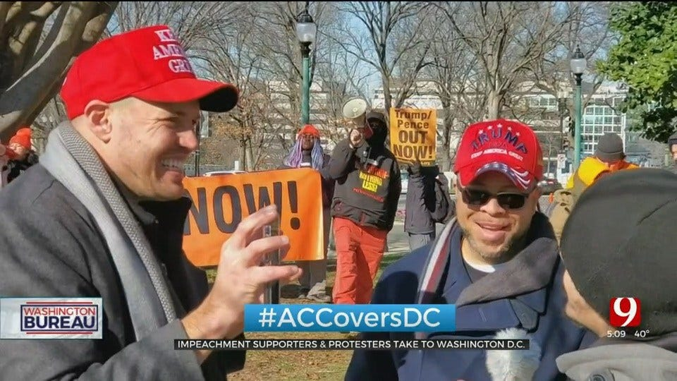Demonstrators Rally In Washington DC On Day 2 Of President Trump's Impeachment Trial