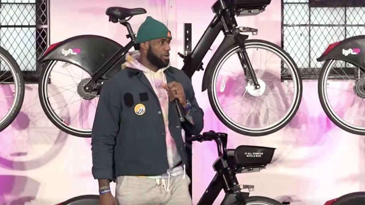 LeBron James Partners With Lyft To Give Teens Free Access To Bicycles