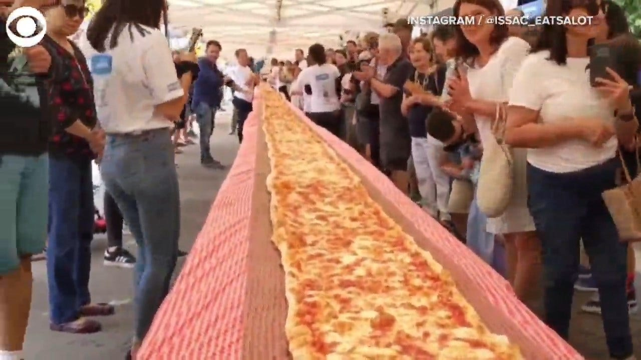 WHOA! This 300 Foot Long Pizza Was Part Of A Fundraiser For Australian Firefighters