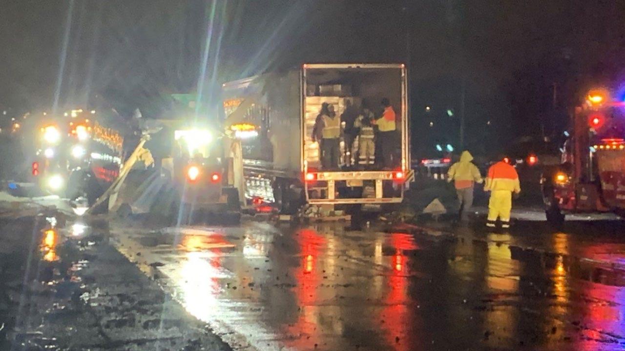WATCH: Part Of I-44 Westbound Shut Down Following Semi Crash