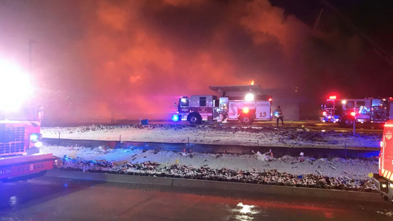 Firefighters Battle Large Commercial Fire In SE OKC