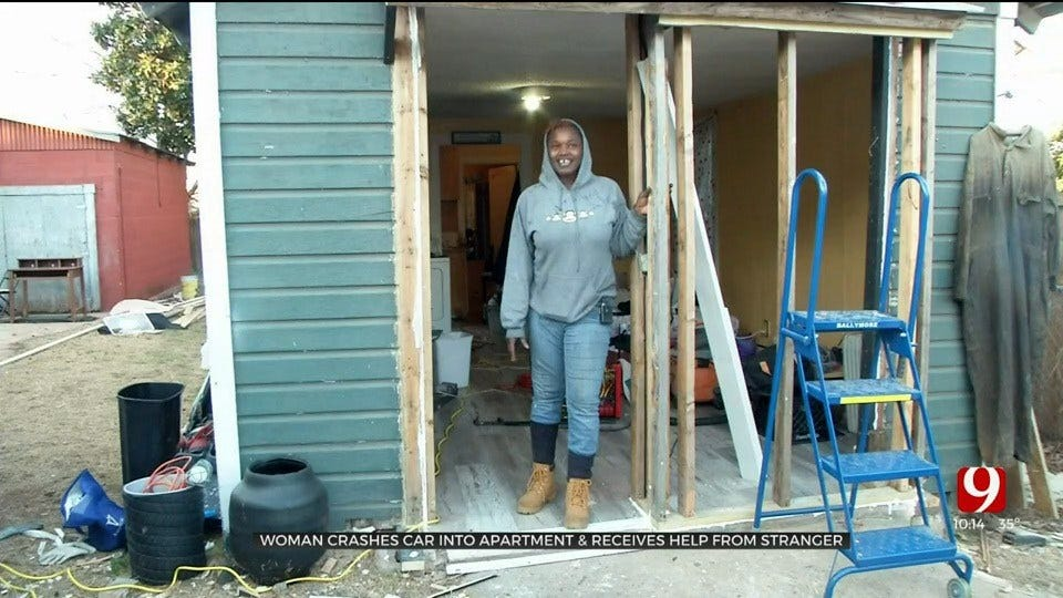 Strangers Step In to Help Woman Who Crashed Car Into Apartment