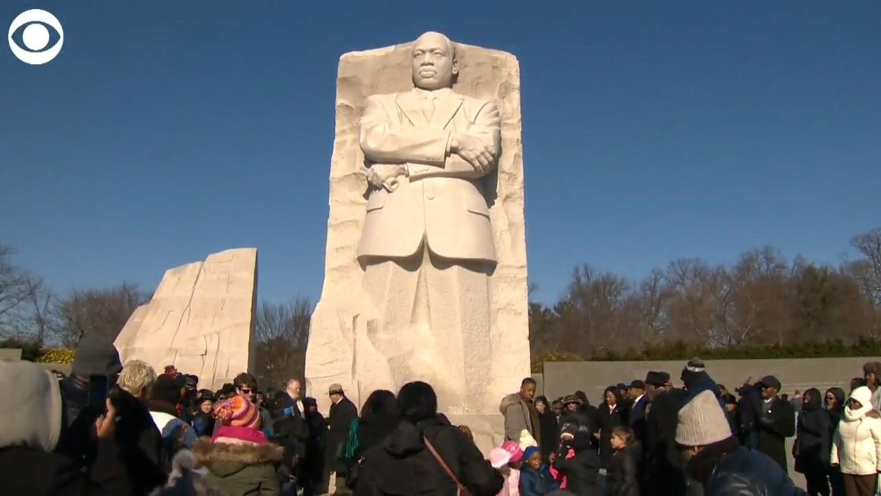 WATCH: A Wreath Was Placed At The Foot Of The Martin Luther King Jr Memorial In DC