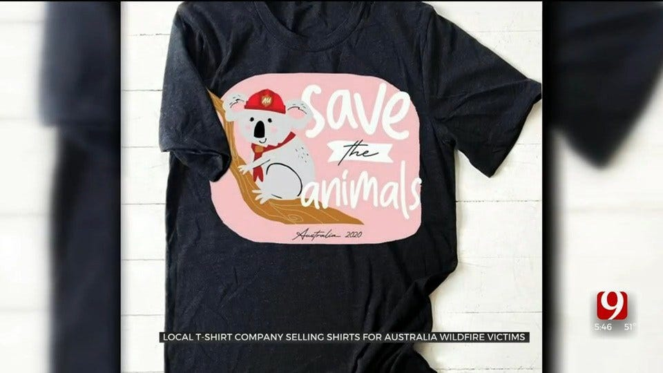 Local T-Shirt Company Selling Shirts For Australia Wildfire Victims
