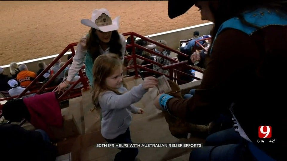 Oklahomans At International Finals Rodeo Help With Australian Wildfire Relief Efforts