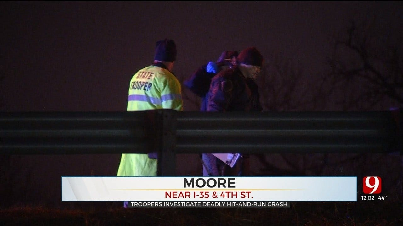 New Details: Troopers Investigate Hit-And-Run Crash Along I-35 In Moore