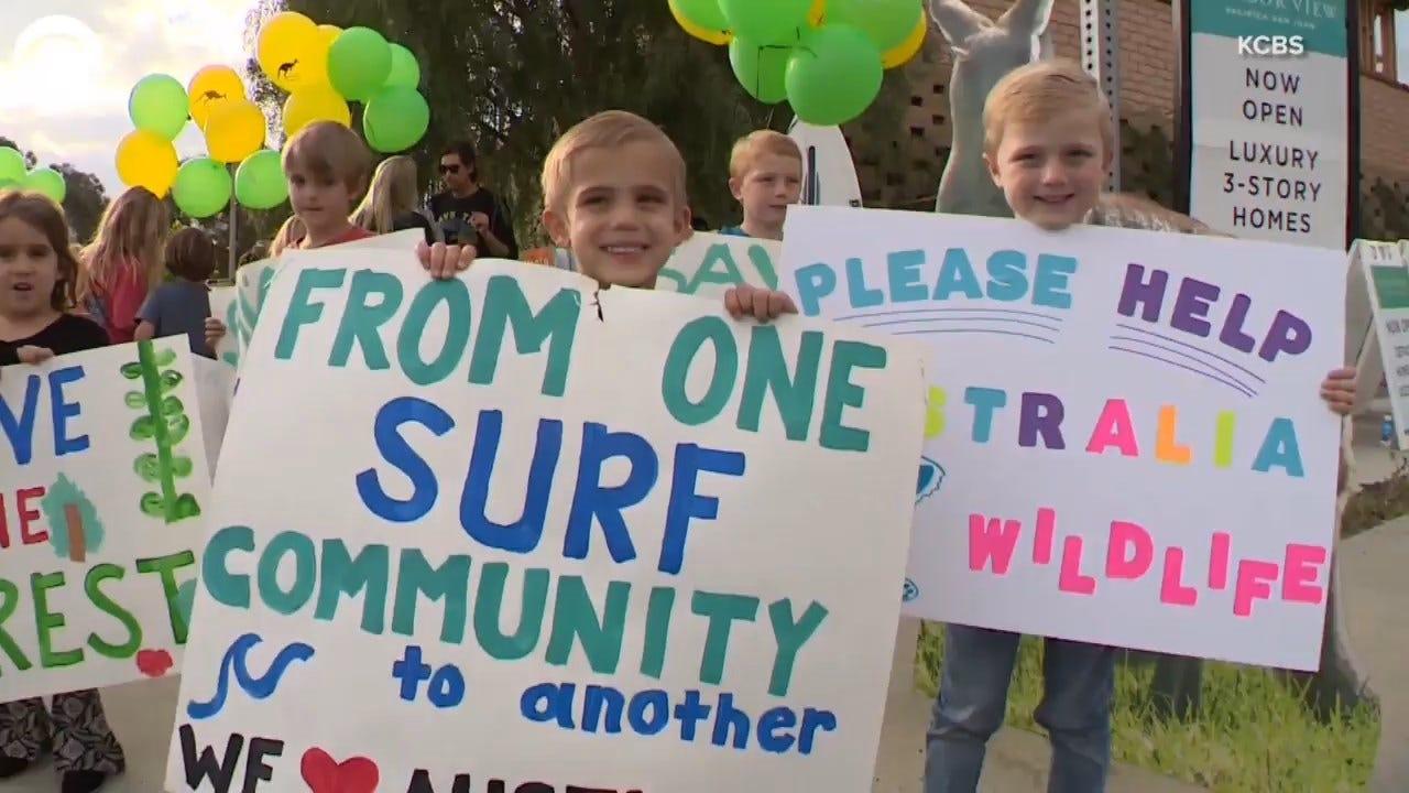 California Students Hold Lemonade Stand For Australia's Animals