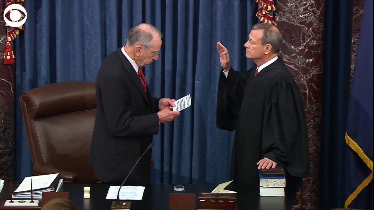 WATCH: SCOTUS Chief Justice John Roberts, Senators Sworn In For Impeachment Trial