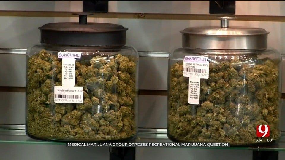 Medical Marijuana Group Opposes Recreational Marijuana Question
