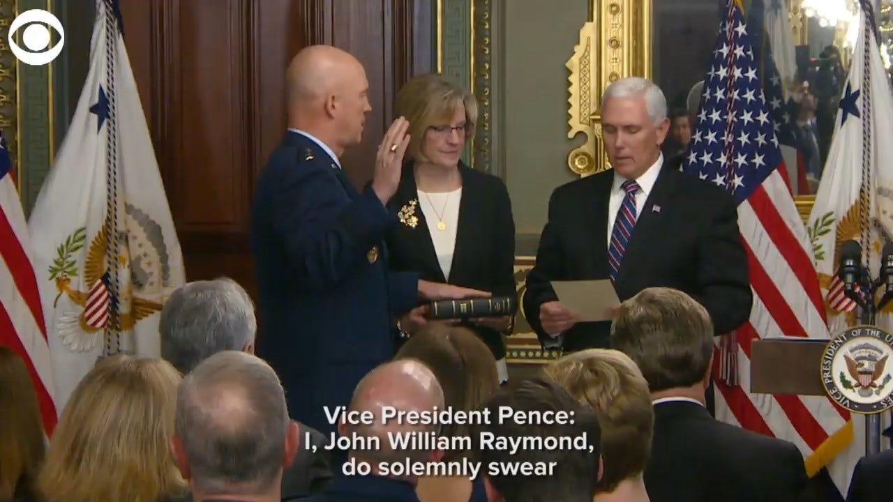 Gen. Raymond Sworn In As 1st Leader Of U.S. Space Force