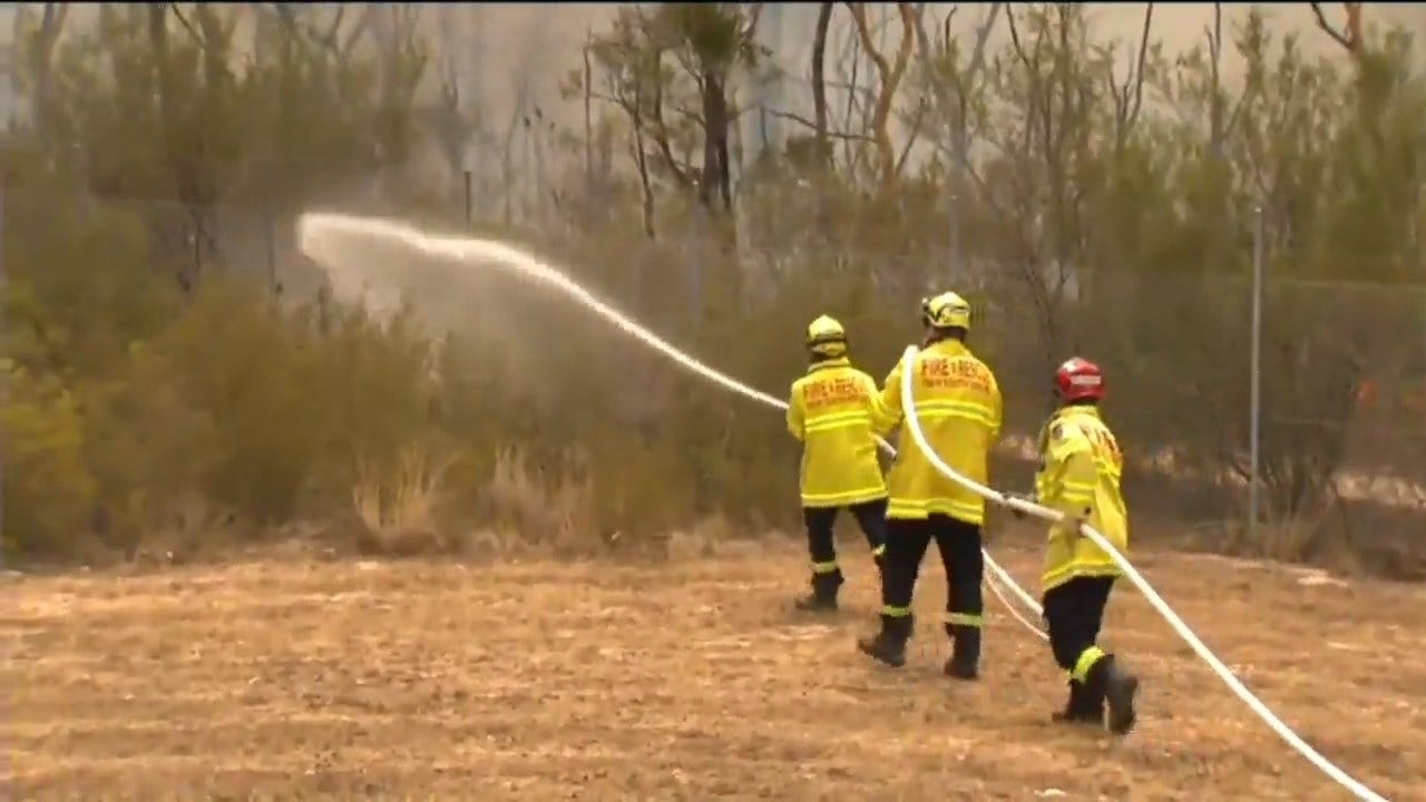 US Firefighters Lend A Hand In Australia