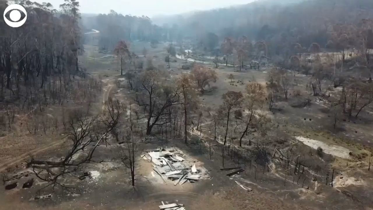 WATCH: Homes In Nerrigundah Australia Destroyed By Fire