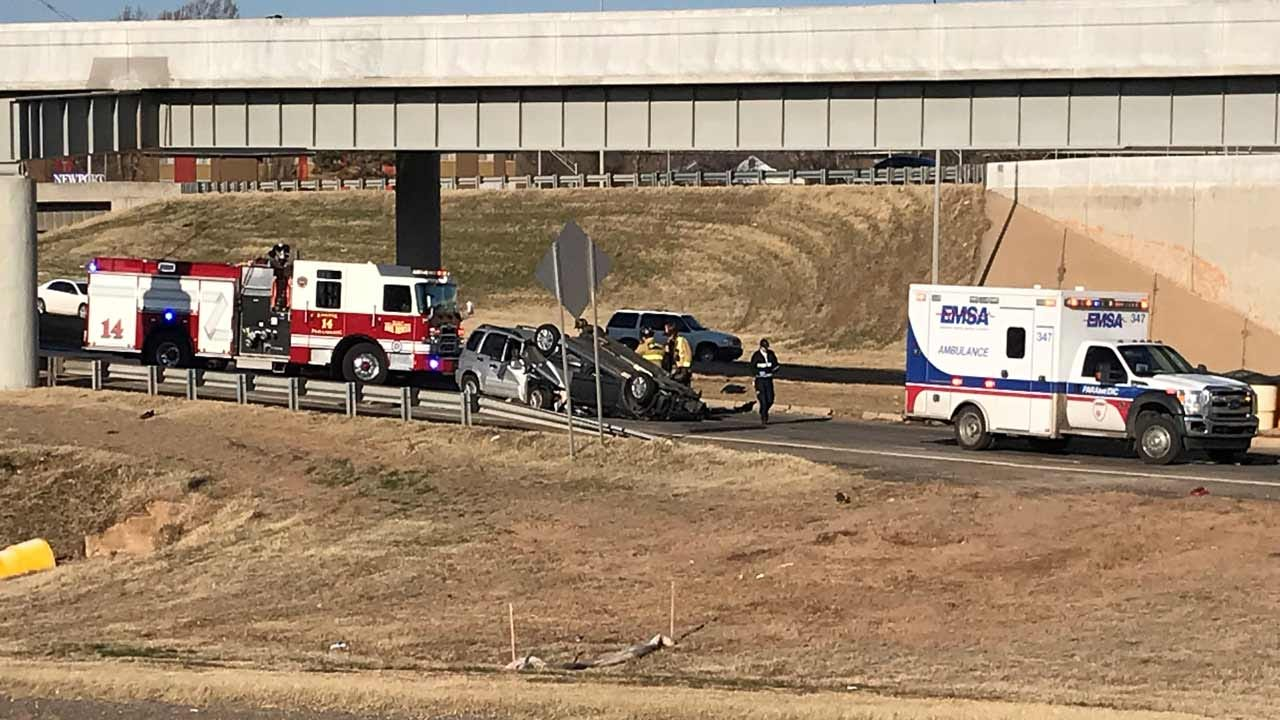 3 Taken To Hospital After Head-On Crash In OKC