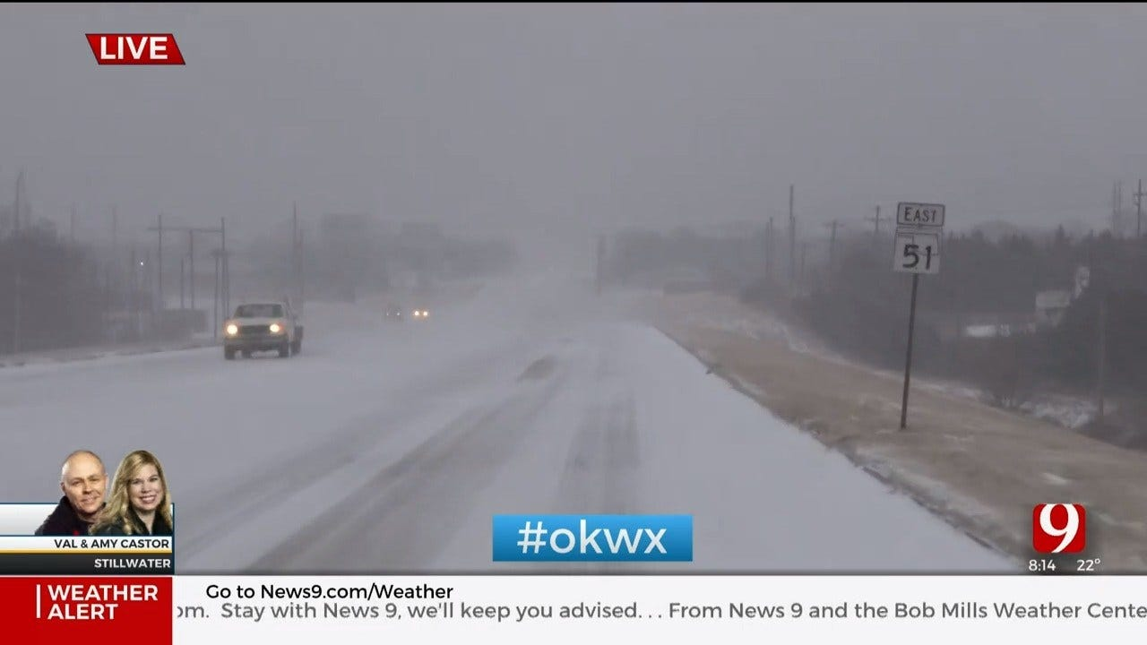 Winter Weather: Val & Amy Track Snow In Stillwater