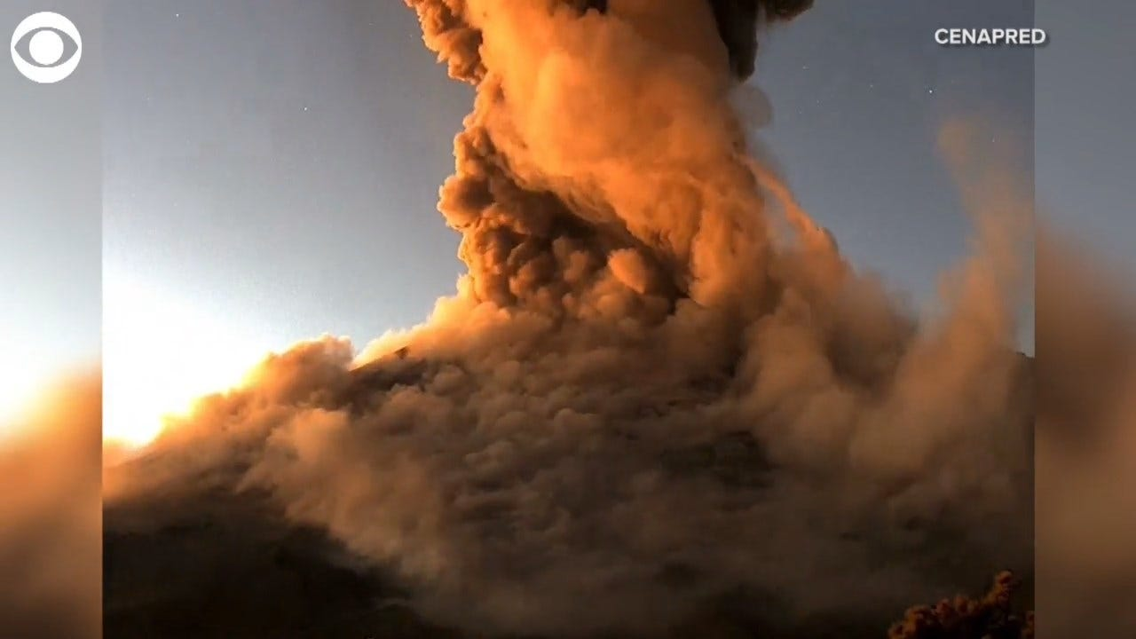 WATCH: A Timelapse Video Shows Volcano Eruption In Mexico