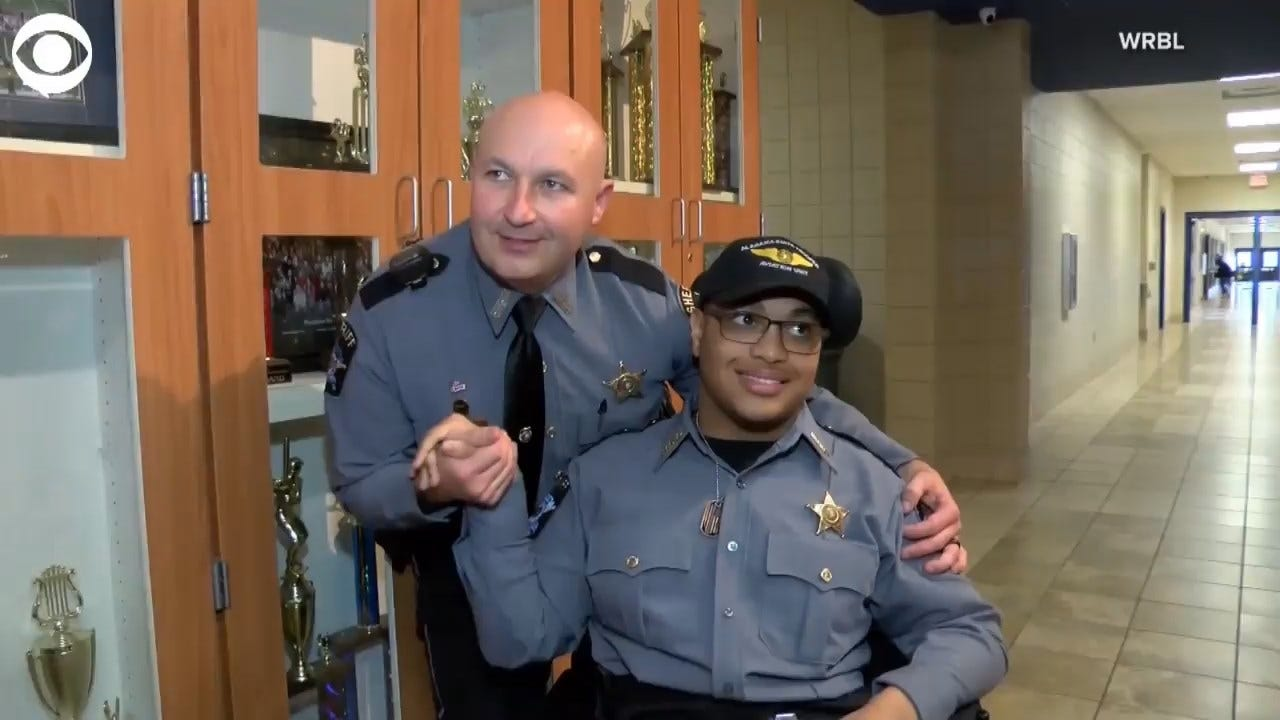 WATCH: High School Student Becomes Honorary Police Officer