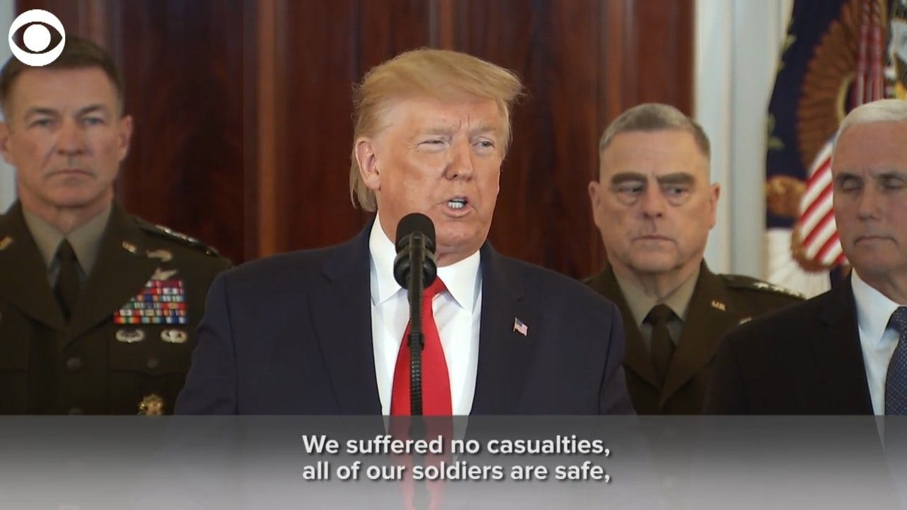 President Trump: 'Iran Appears To Be Standing Down'