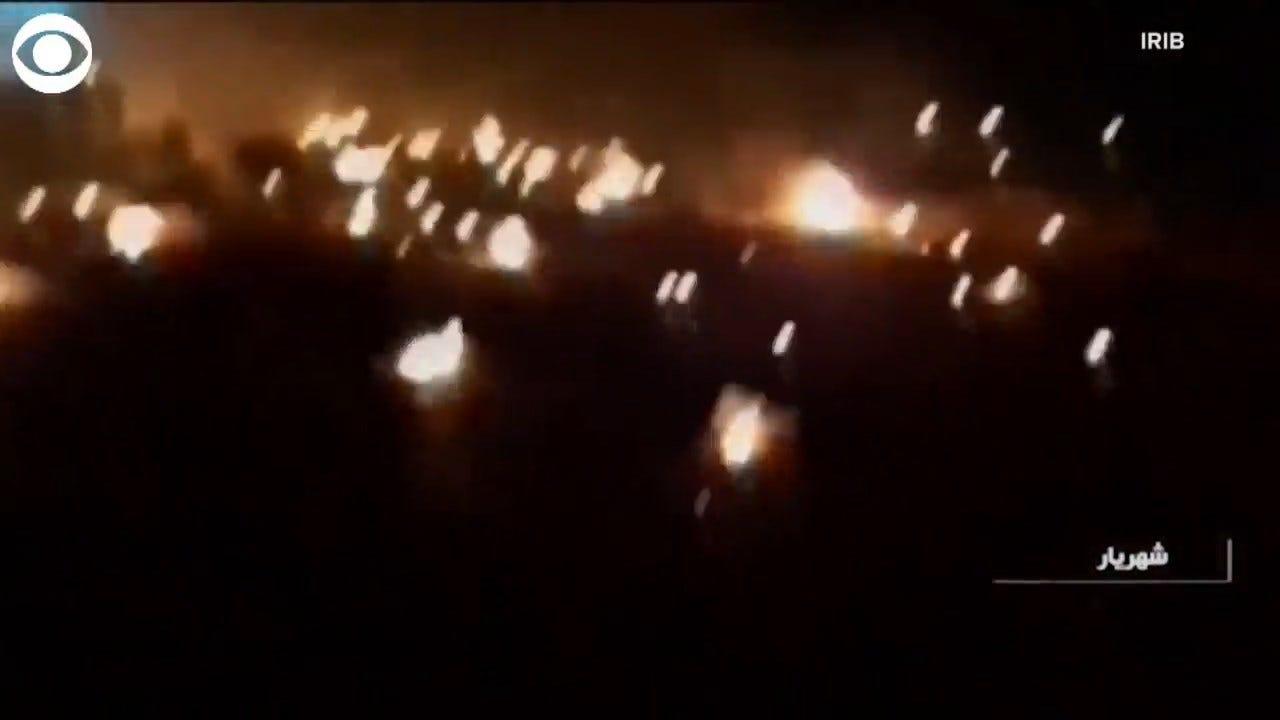 Crews Inspect Wreckage Of Crashed Ukrainian Passenger Jet Outside Of Tehran