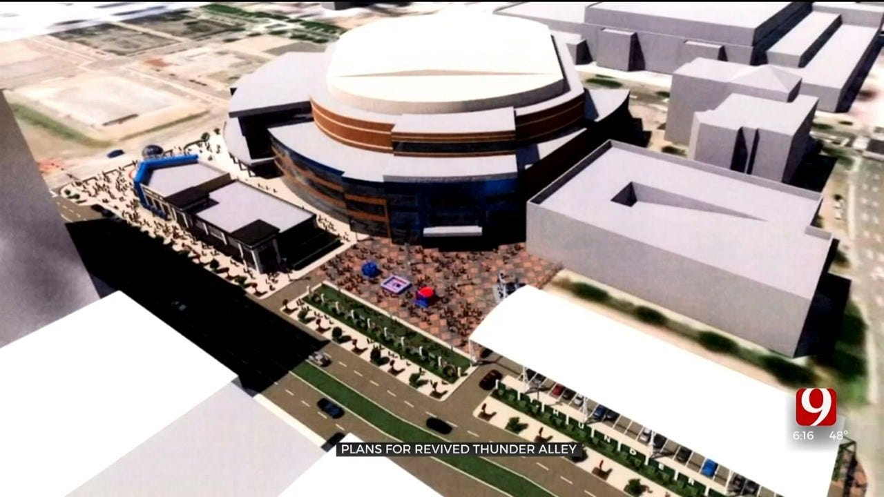 Plans For New Thunder Alley Submitted To OKC