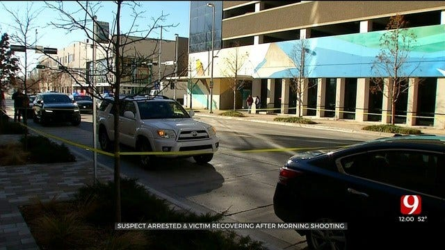 Suspect Arrested, Victim Recovering After Morning Shooting In Downtown OKC