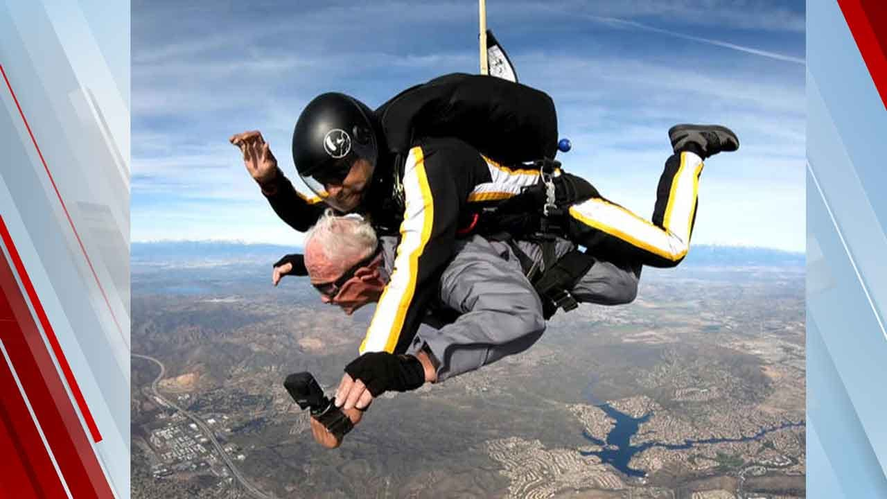 Double-Amputee Veteran Celebrates 90th Birthday By Skydiving