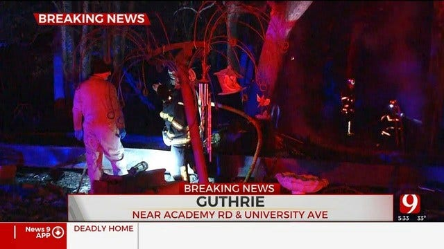 Firefighters Investigate Deadly Mobile Home Fire In Guthrie