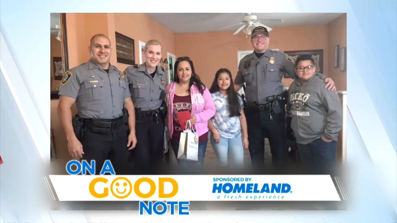 On A Good Note: Police Save Christmas For Local Family