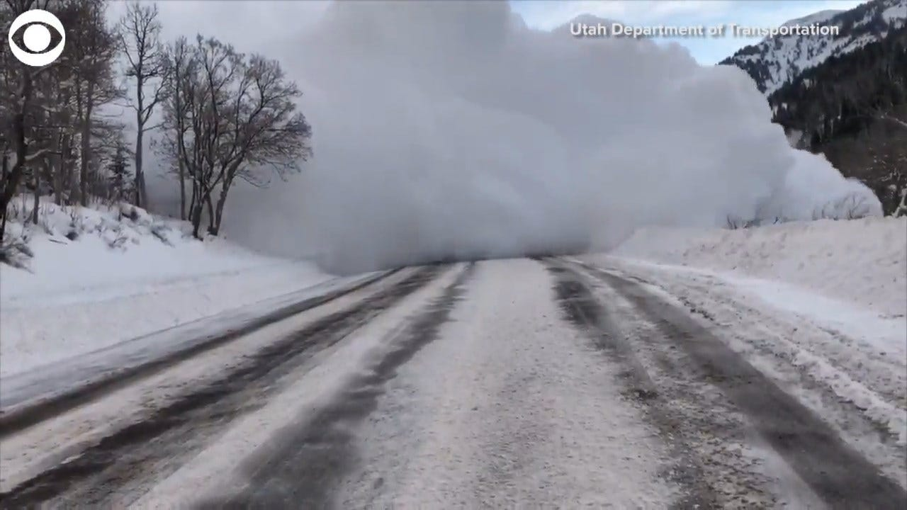 CAUGHT ON CAMERA: Controlled Avalanche In Utah