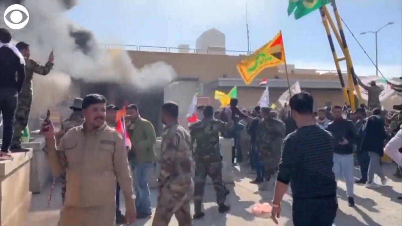 WATCH: Protestors In Iraq Storm U.S. Embassy