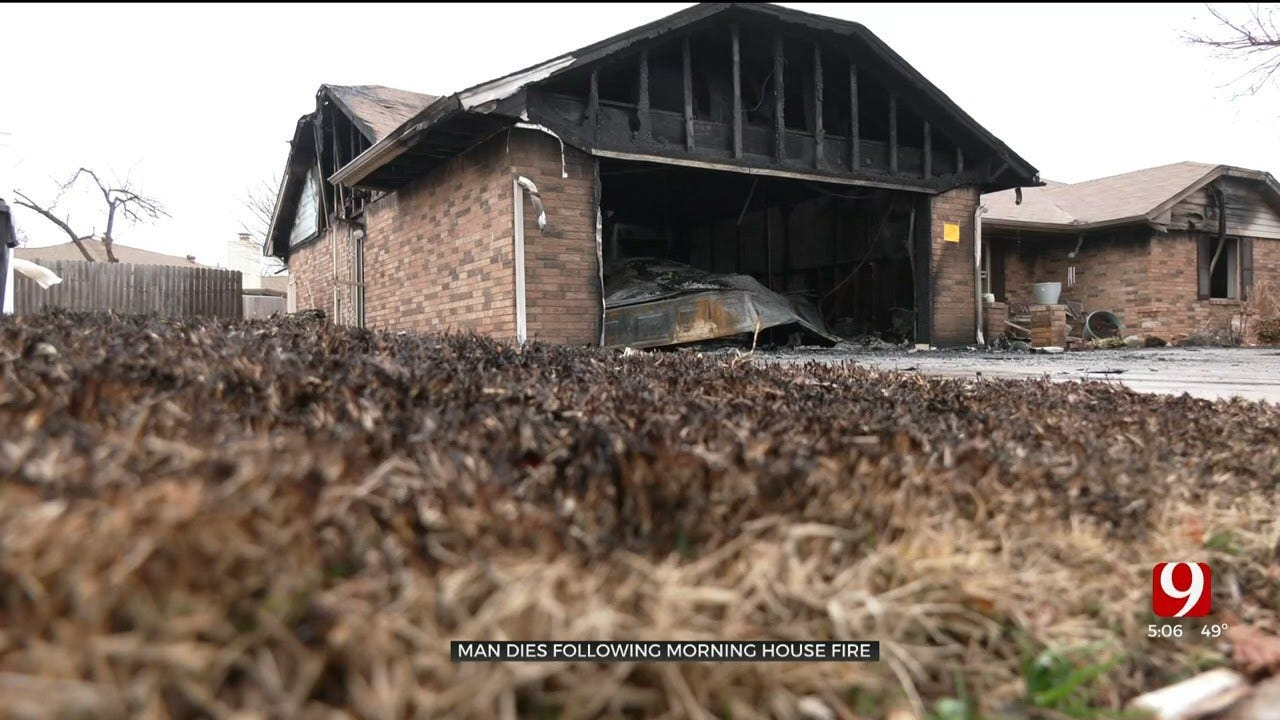 OKCFD Says Cigarette The Cause Of House Fire That Killed Man, Pet