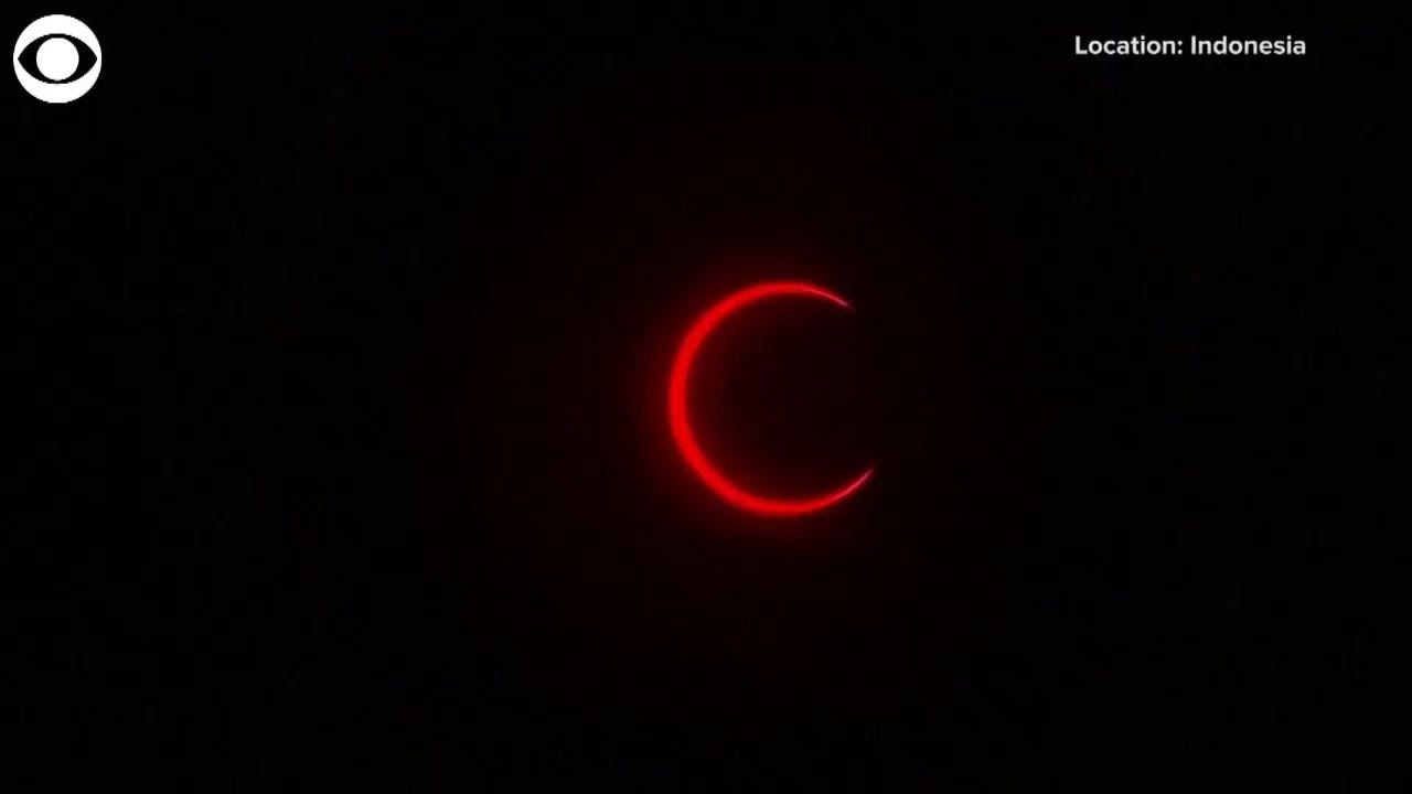 WATCH: Last Solar Eclipse Of The Decade