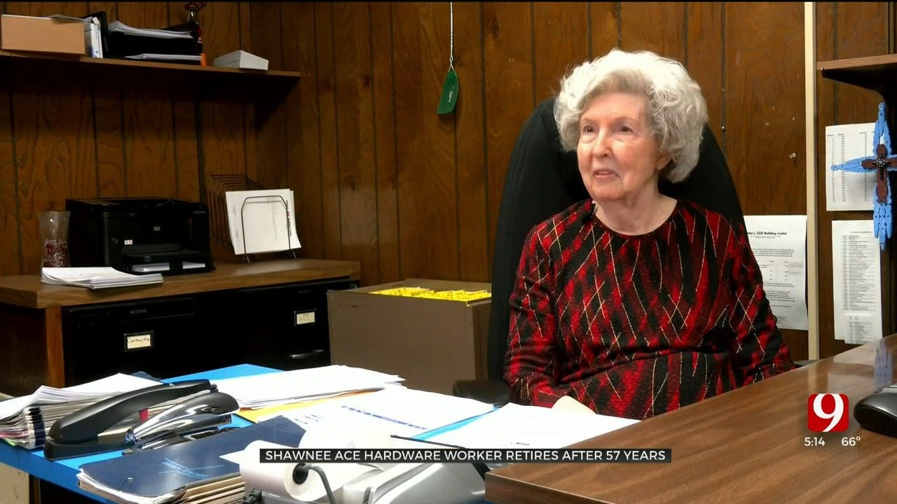 Shawnee ACE Hardware Employee Retires After 57 Years On The Job