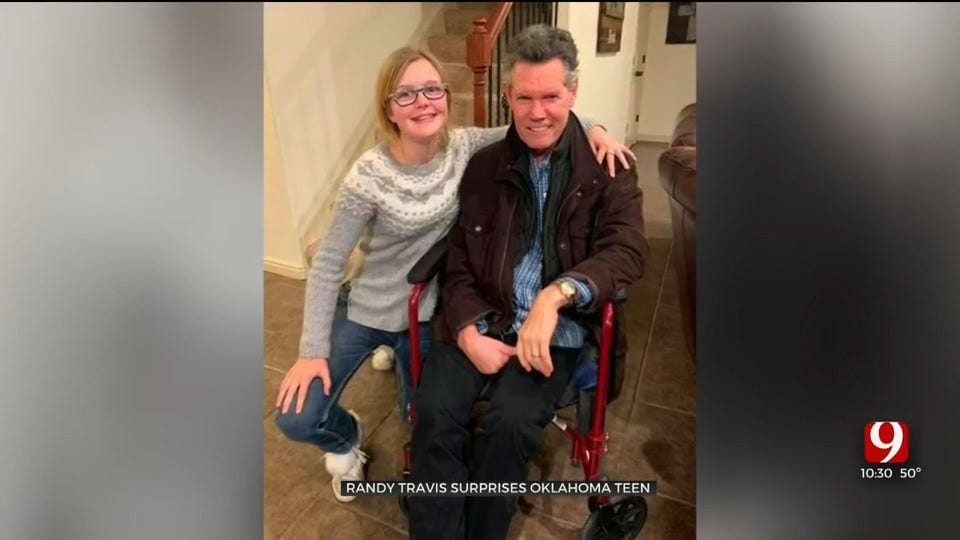 Country Legend Randy Travis Surprises Oklahoma Teen