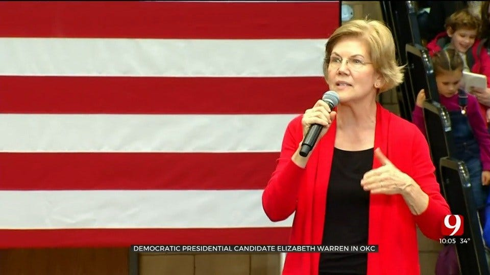 Democratic Presidential Candidate Elizabeth Warren Holds Town Hall In Oklahoma City