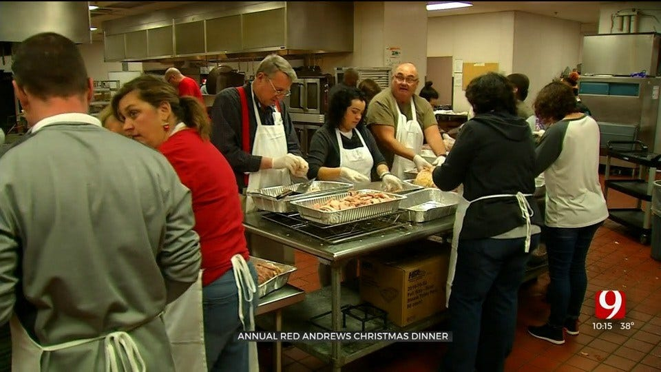 Red Andrews Foundation Preparing For Annual Christmas Dinner