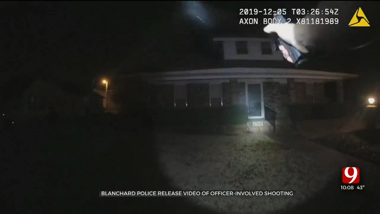 WATCH: Blanchard PD Releases Video Of Officer-Involved Shooting