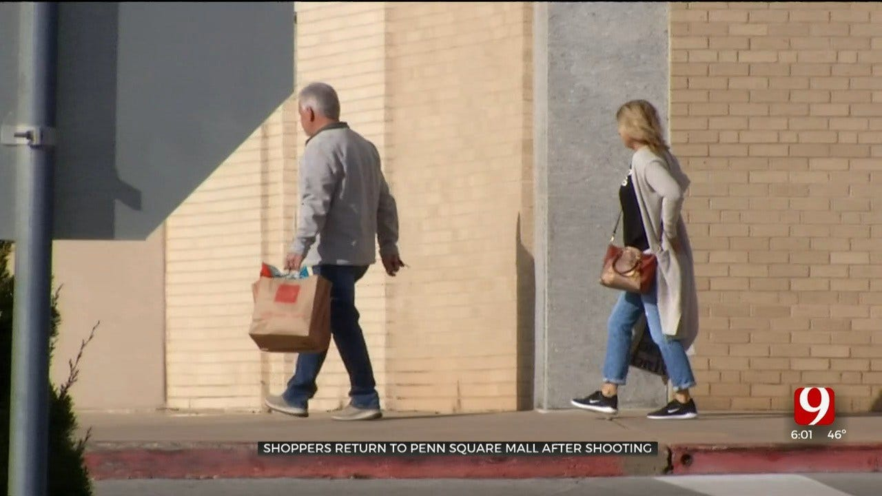 Holiday Shoppers Return To Penn Square Mall Following Chaos After Shooting