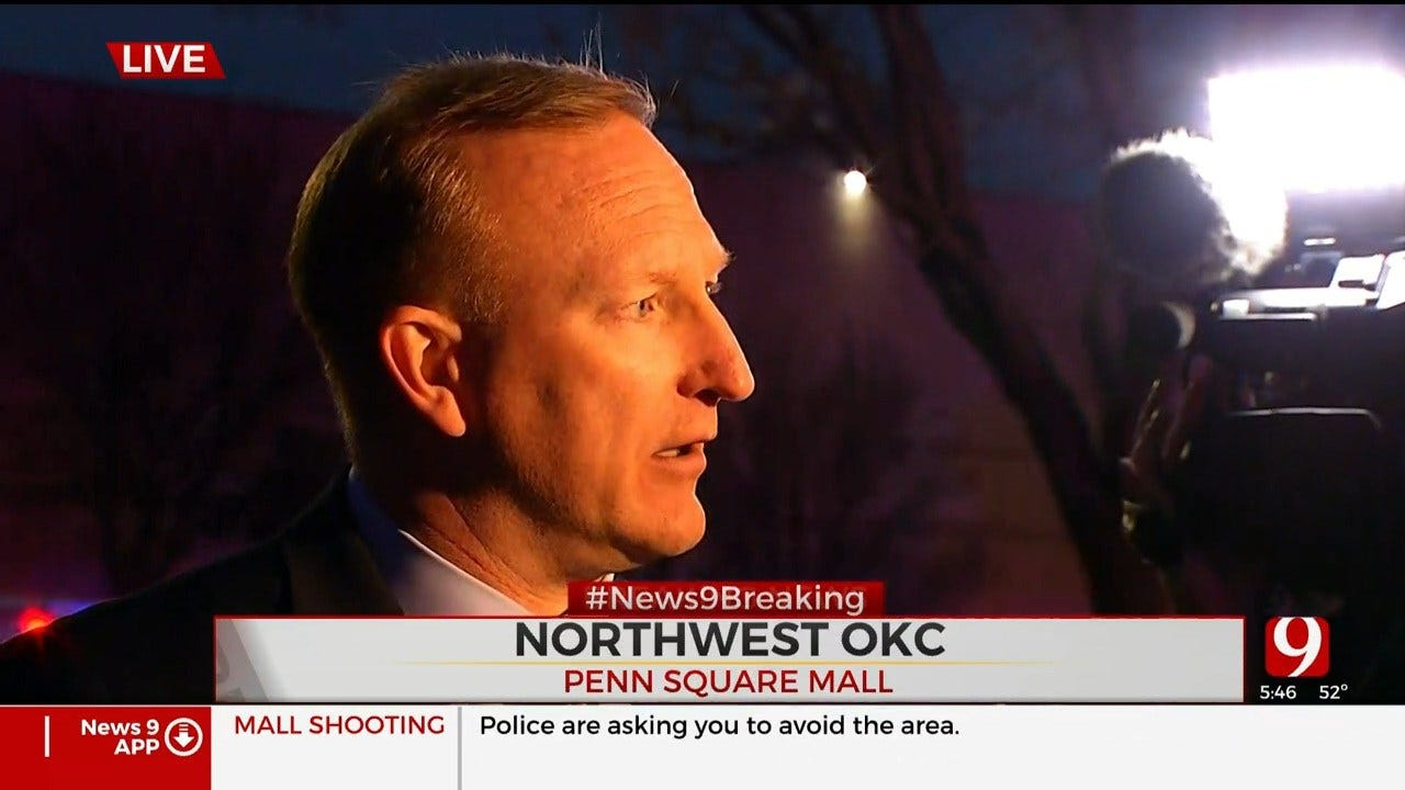 OKC Police Give An Update About The Shooting Investigation At Penn Square Mall