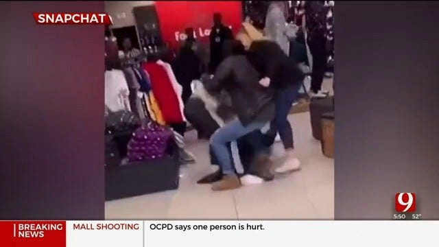 Social Media Video Of Fight Before Shooting At Penn Square Mall