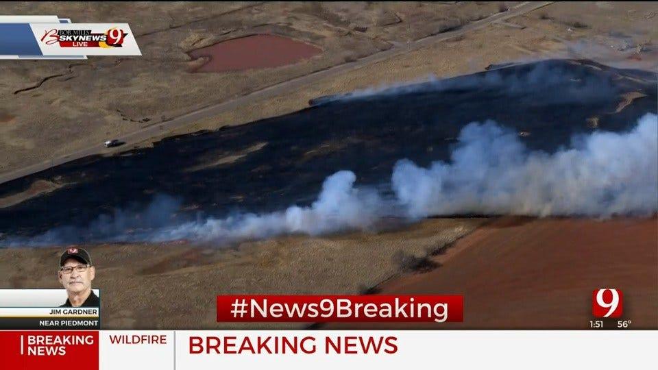 Wildfires Reported Around OKC Metro Area