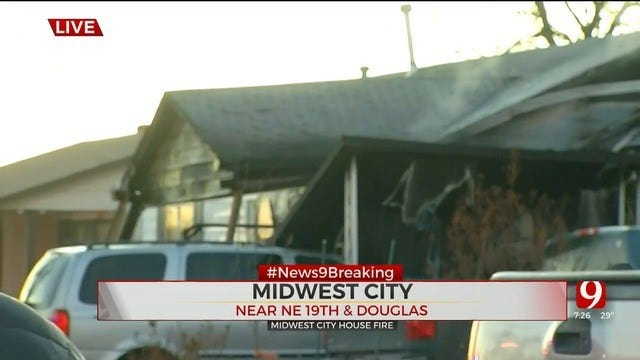 Firefighters Battle House Fire In MWC